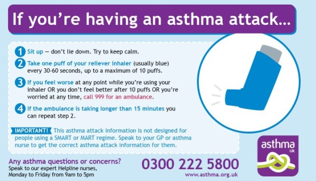 What to do if you are having an asthma attack