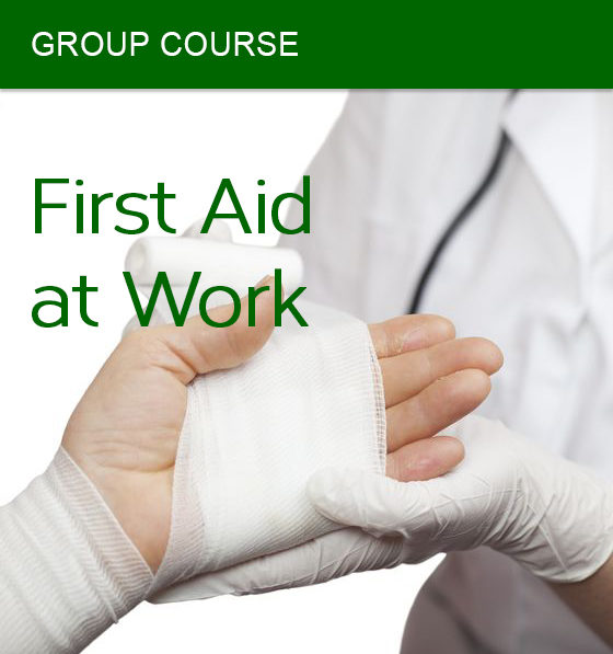 group first aid at work course