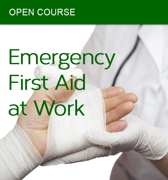 open emergency first aid at work course