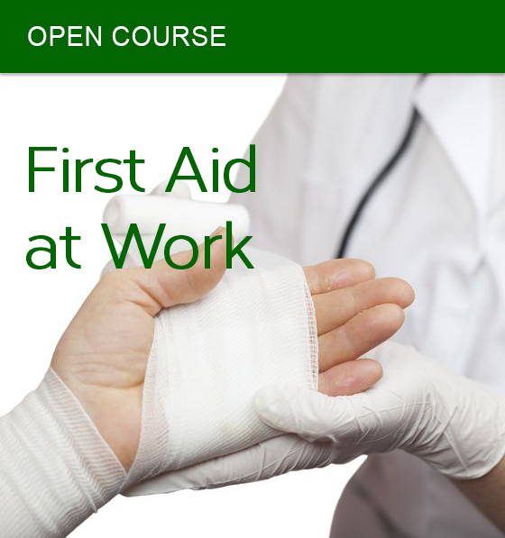 open first aid at work course